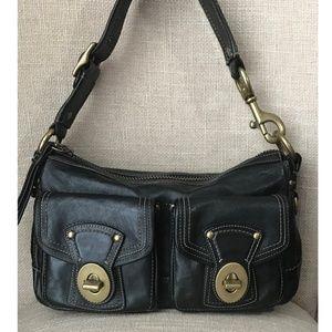 COACH Vachetta Legacy Black Hobo Handbag 10328